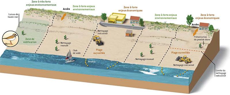 découpage des zones de plage - DR Rivages de France
