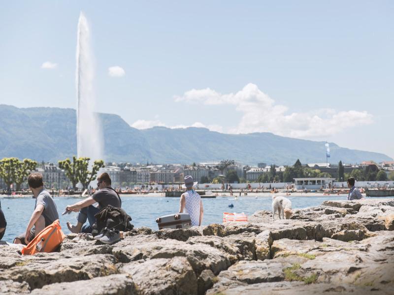Le célèbre bains des Pâquis, sur les bords du Lac Léman © DR Geneva Live Tourism