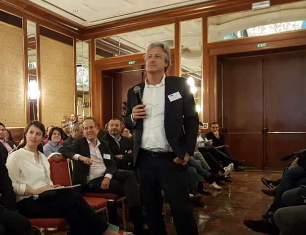 Zoran Jelkic, DG d'Air France au Congrès Manor pour s'expliquer sur la surcharge GDS - Photo CE