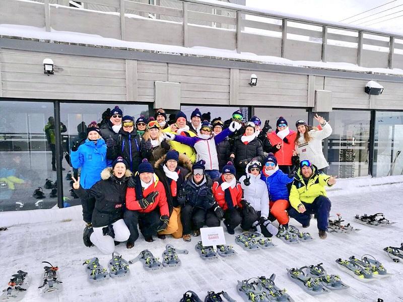 L'équipe d'Eventeam en préparation pour les JO de Pyongchang - Crédit photo : compte Twitter @AgenceEventeam