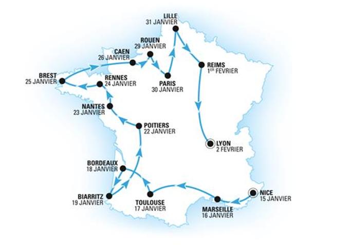 Le MythicRoadshow d'Héliades sillonne la France du 15/01 au 02/02/2018