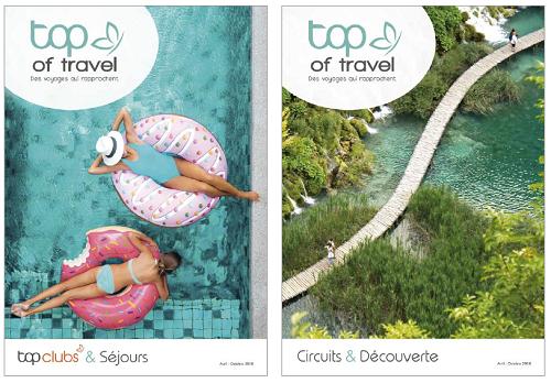 Les nouvelles brochures Top of Travel qui vont prochainement arriver en agences de voyages - DR