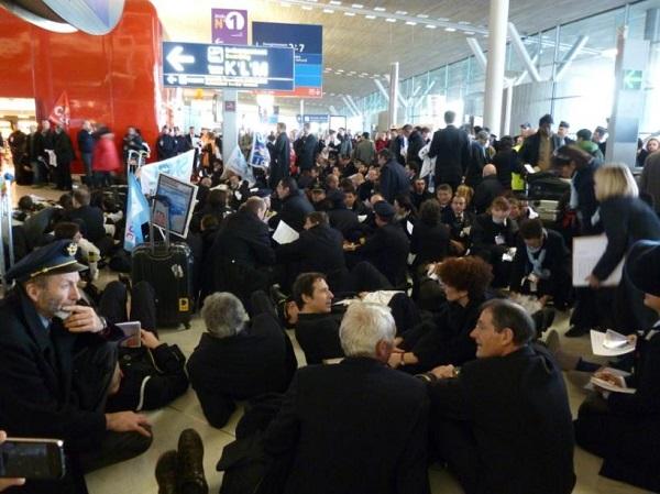 Grève des pilotes d'Air France en 2013 - Crédit photo : compte Facebook SNPL France Alpa