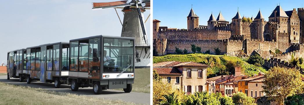 Carcassonne Agglo a fait l'acquisition d'un train touristique électrique - DR