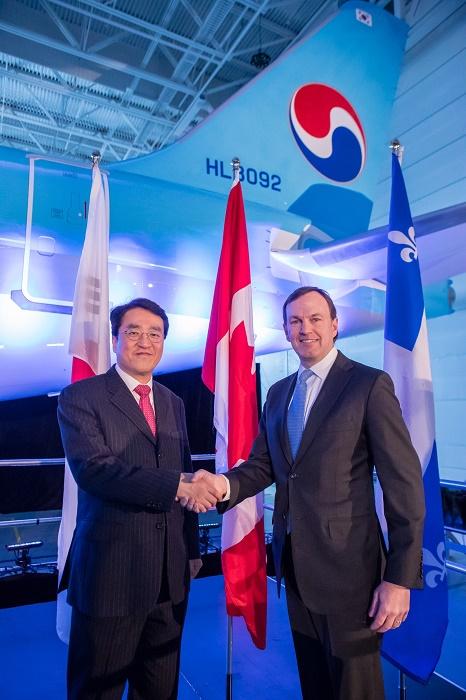 La cérémonie officielle de livraison du nouvel appareil s'est déroulée le 22 décembre dernier à l'usine de fabrication de Bombardier située à Mirabel, au Québec - DR