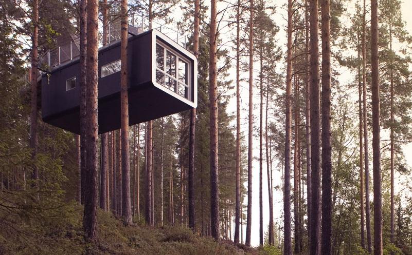 """""""La Cabine"""" est l'une des chambres de l'arbre-hotel - DR Treehotel"""