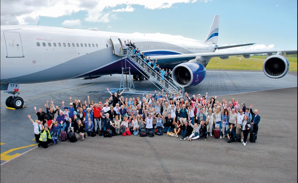 Une soixantaine de personnes a participé au tour du monde 2017 en avion privé de Safrans du Monde. - Safrans du Monde.