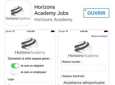 L'application mobile de Horizons Academy - DR