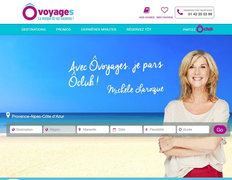 Le tout nouveau site Internet de ÔVoyages - Capture écran