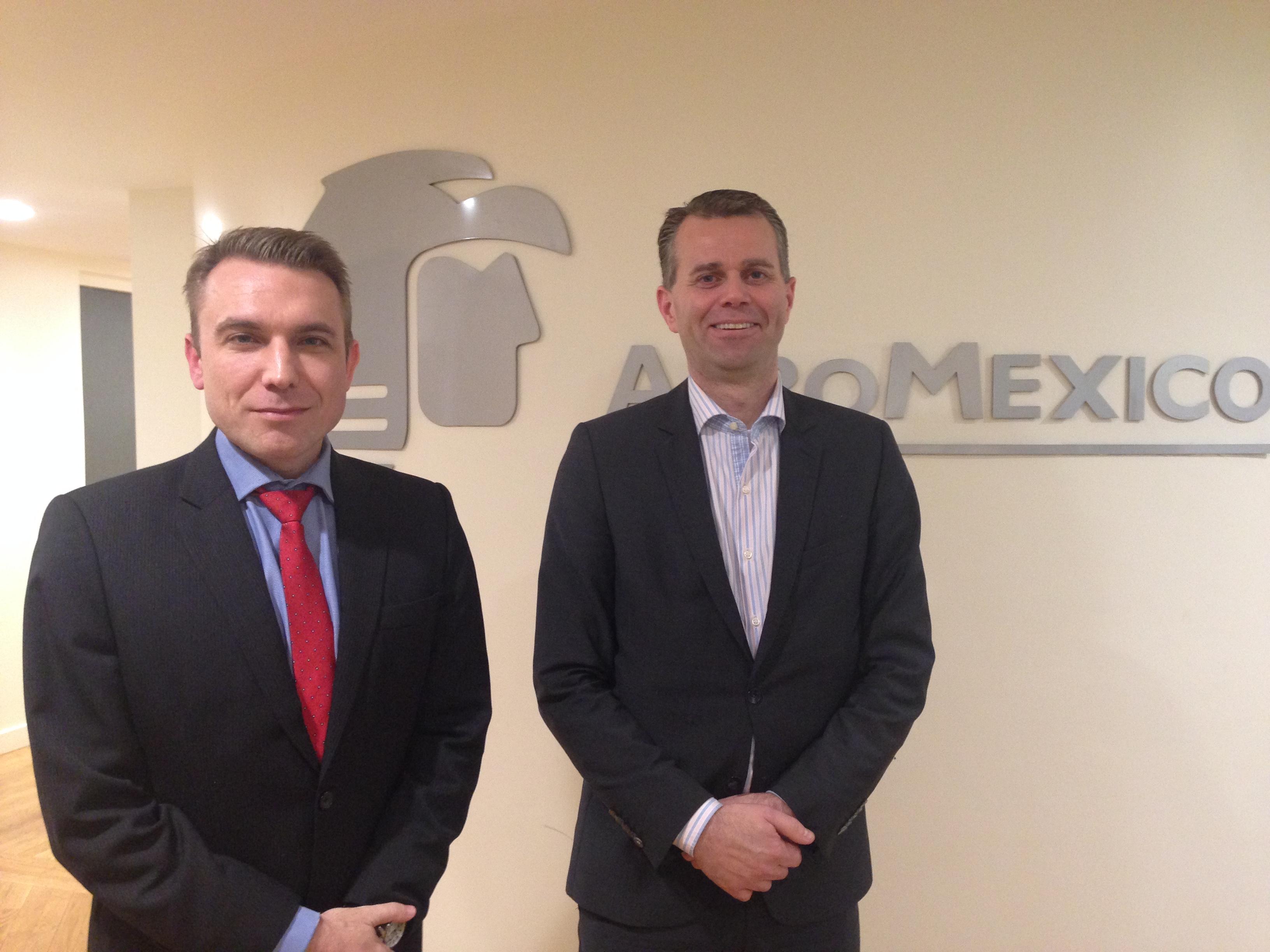 Emmanuel Oswald, directeur commercial France et Paul Verhagen, vice-président International Market d'Aeromexico. - CL