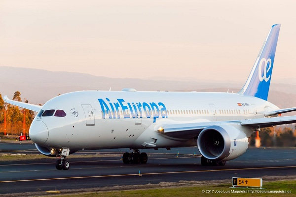 Crédit photo : compte Facebook @AirEuropaFrance