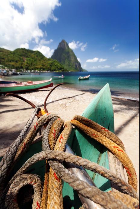 Les pitons de Sainte-Lucie inscrits au patrimoine mondial de l'UNESCO. - OT Sainte-Lucie.