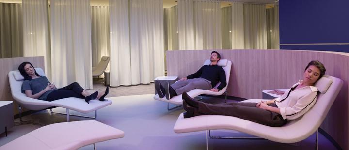 Le salon Air France consacre plus de 550 m² au bien-être - Photo Air France