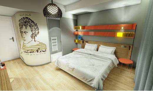 Une des chambres de l'hôtel Golden Tulip Grand Bé à Saint Malo - DR