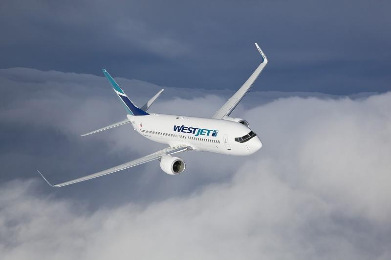 Boeing 737-8 MAX aux couleurs de WestJet - DR