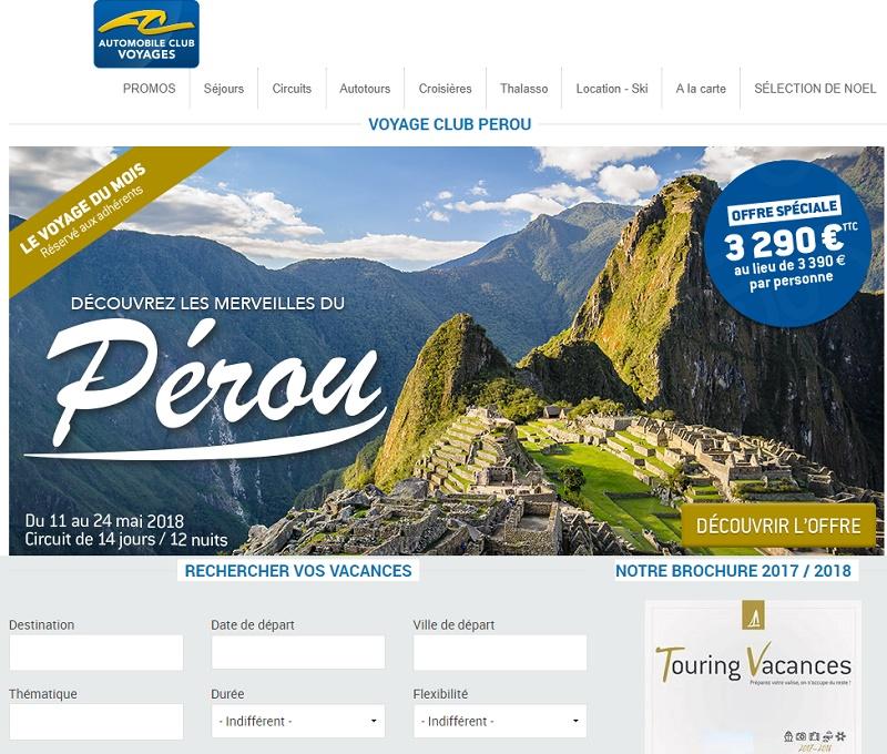 L'Automobile Club Voyages fête ses 20 ans en 2018 - Capture écran