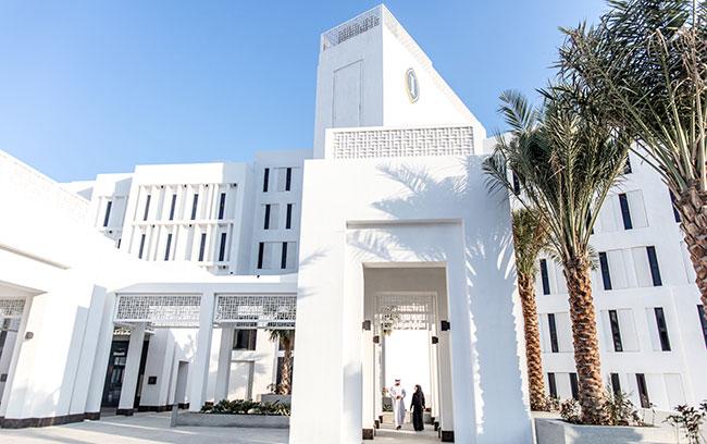 l'entrée principal d' l'Intercontinental Fujaïrah Resort- DR Intercontinental