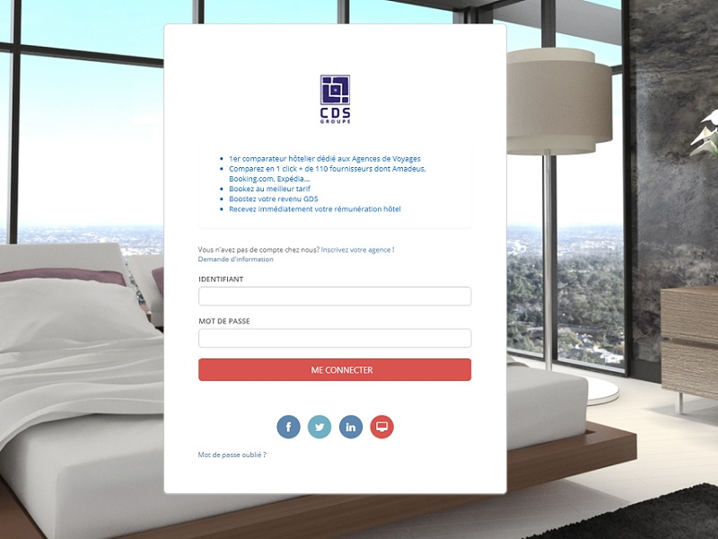 Exclu la travel tech a test la plateforme h teli re cds for Plateforme reservation hotel
