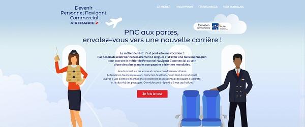 capture écran du site : devenirpnc.com