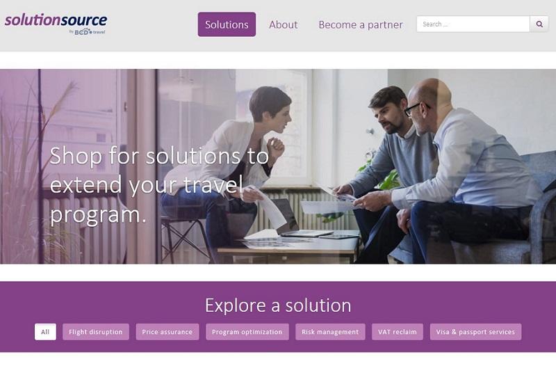 BCD Travel lance SolutionSource - Copie d'écran