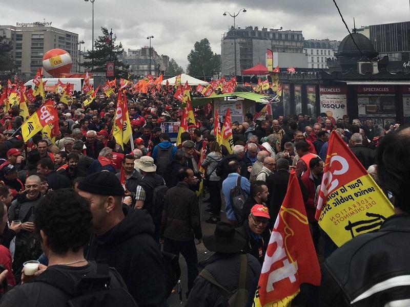 La grève du 8 février de la CGT Cheminots n'aura pas lieu, mais le feu semble couver - Crédit photo : compte Twitter @cgtcheminots