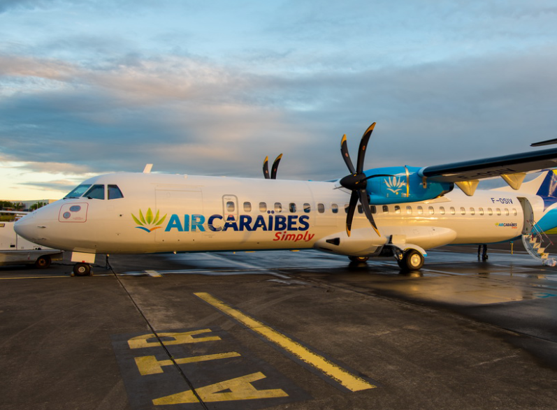En 2018, Air Caraïbes continuera la modernisation de sa flotte long-courrier, mais aussi régional. Ici le dernier ATR-72 acquis par la compagnie. © Air Caraïbes Fb
