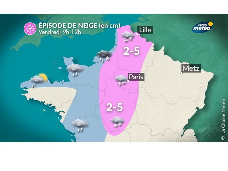 La situation selon Météo France ce matin à 8h