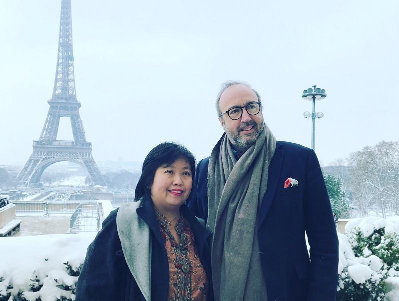 Eka Moncarre, directrice de l'Office du Tourisme de l'Indonésie en France et Frédéric Lorin, directeur tourisme de Reed Expositions France - photo IFTM