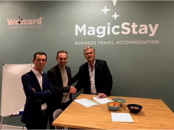 Emmanuel Marin, CEO France de Travel and Transport et Valéry Linyer, CEO de MagicStay - DR