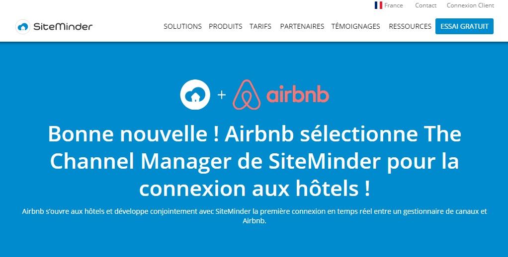 SiteMinder : l'hôtellerie fait son entrée chez Airbnb