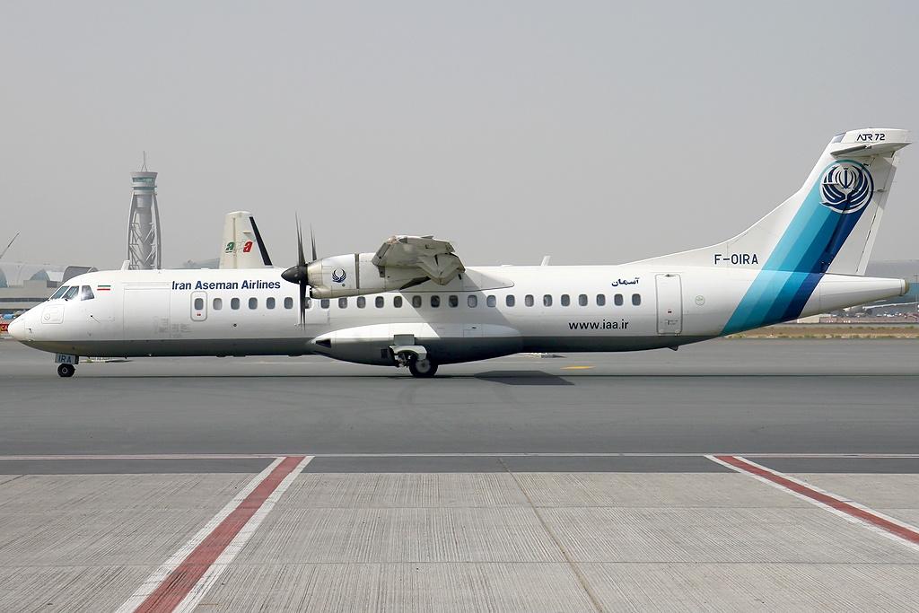 un  ATR 72-500 à l'aéroport international de Dubaï /photo Konstantin von Wedelstaedt