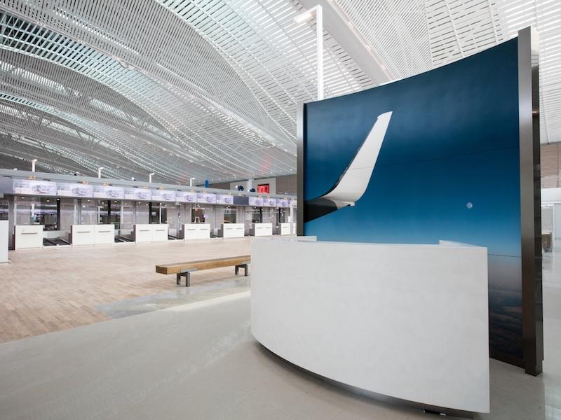 Dans le nouveau terminal de Seoul-Incheon, ouvert le 18 janvier dernier et réservé aux compagnies SkyTeam © Korean Air