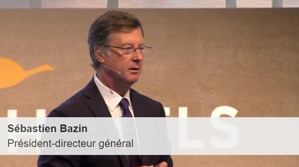 """Sébastien Bazin """"nous allons mutualiser, amortir et ouvrir nos hôtels"""" - Crédit photo : Capture écran de la conférence de presse du 21 février 2018"""