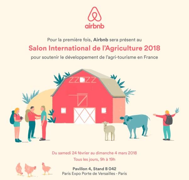 Airbnb sera présent au Salon de l'agriculture à Paris du 24 février au 4 mars 2018 - DR
