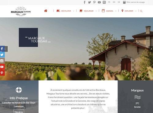 Lancement du site internet www.margaux-tourisme.com - DR