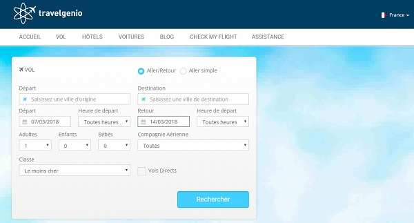 Travelgenio renforce son partenariat avec Travelport - Crédit photo : capture écran site Travelgenio