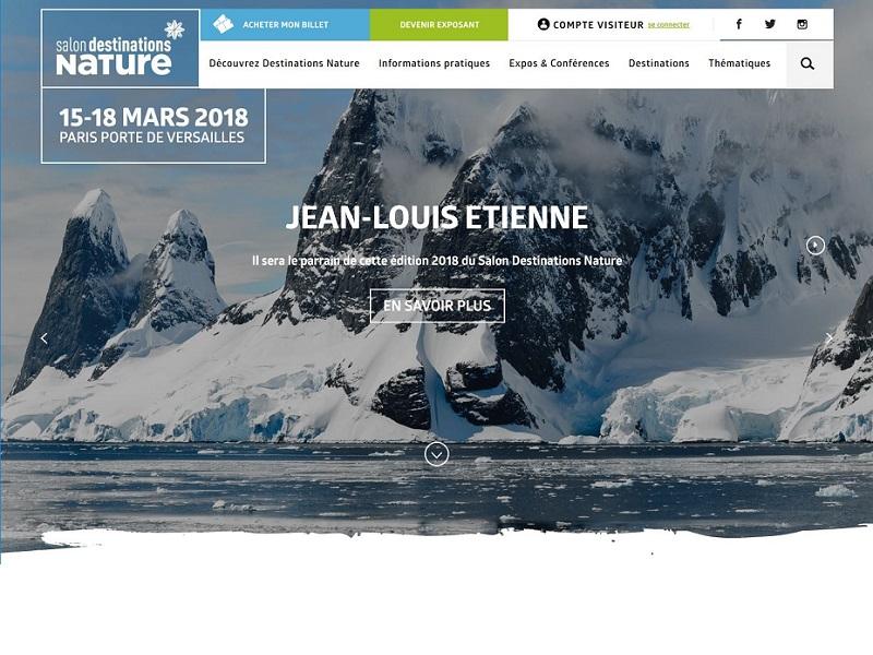 Le salon destinations nature se tiendra mi mars à Paris - copie d'écran