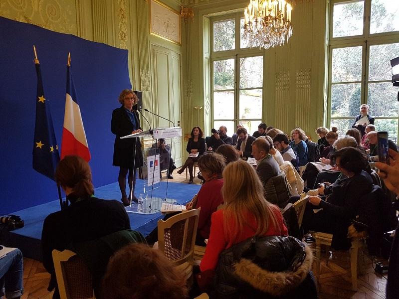 Muriel Pénicaud a présenté la réforme  de la formation professionnelle ce lundi 5 mars 2018 - Photo Ministère du Travail