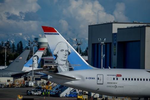 Dreamliner Frères Montgolfier - Usine Boeing d'Everett - DR
