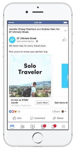 Publicité voyage : Facebook lance Trip Consideration