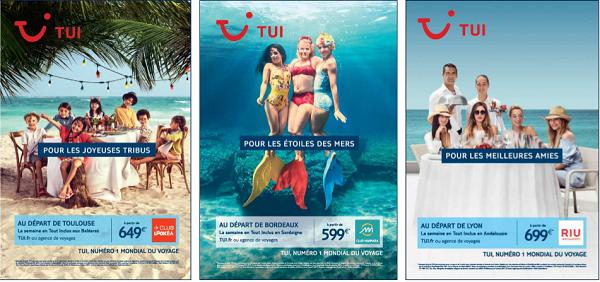 La campagne d'affichage de TUI est déployée sur 7 000 panneaux à travers la France - Crédit photo : TUI