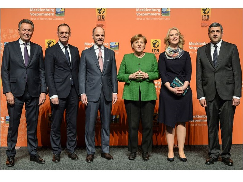 L'ouverture du salon ITB 2018 à Berlin en présence d'Angela Merkel - photo OMT