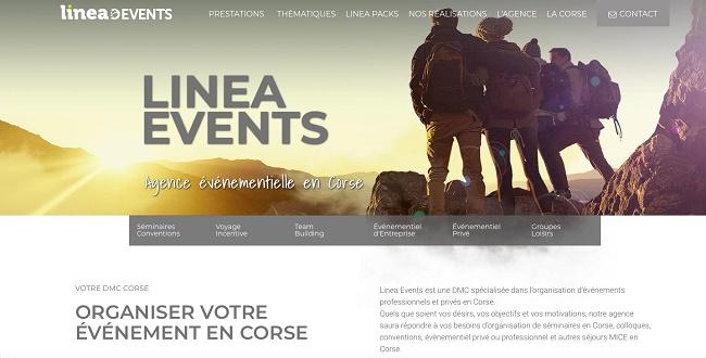 Le site Linea Events permet d'accéder à une information claire, et rapide, mais aussi de naviguer dans les différentes rubriques présentant les prestations de l'agence - Crédit photo : Linea Voyages