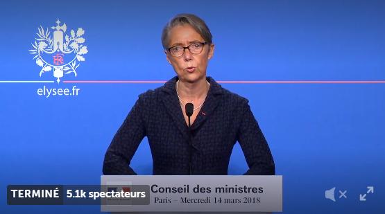 Elisabeth Borne, ministre des transports à l'issue du conseil des Ministres - DR