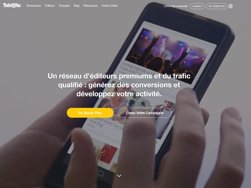 Taboola diffuse plus de 450 milliards de recommandations à 1.4 milliard d'utilisateurs uniques chaque mois - DR : Capture d'écran Taboola