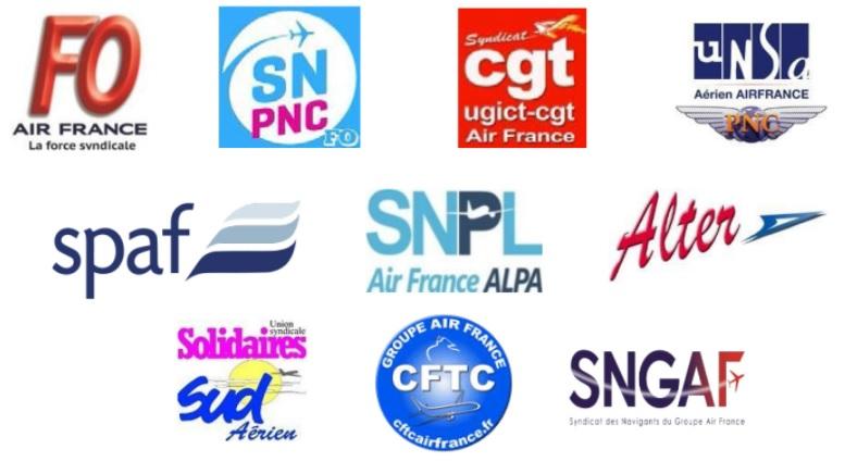 L'intersyndicale Air France regroupe l'intégralité des représentants du personnel