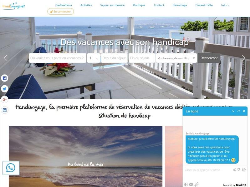 La plateforme Handivoyage propose des lieux et activités adaptées aux personnes en situation de handicap - photo : copie d'écran du site