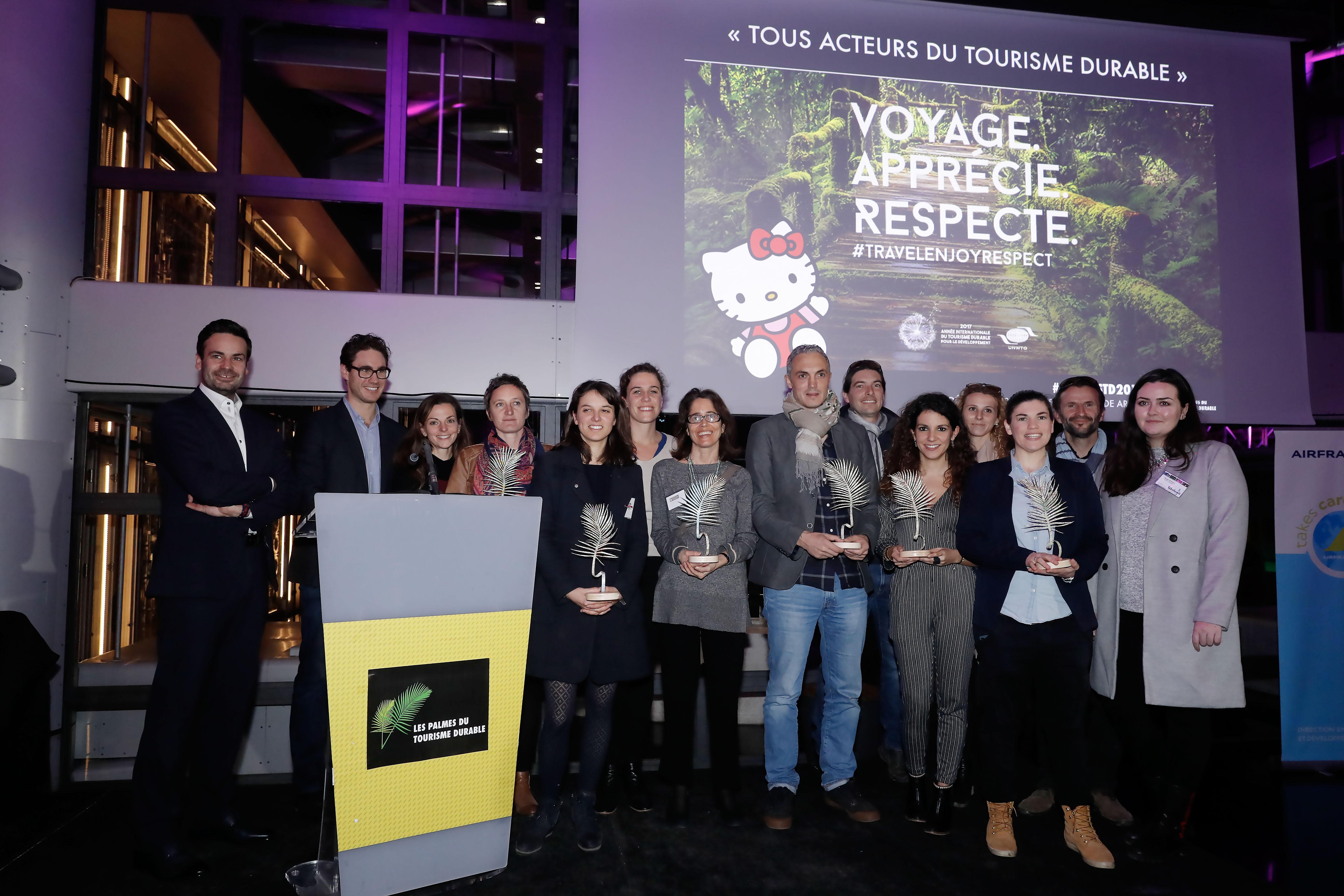 Les lauréats de la 1ère édition des Palmes du Tourisme durable - DR