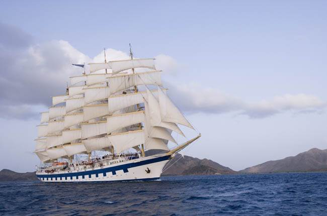 "Le Royal Clipper, vedette aux fameuses ""Voiles de Saint Tropez"" le 29 septembre prochain. Photo Star Clipper."