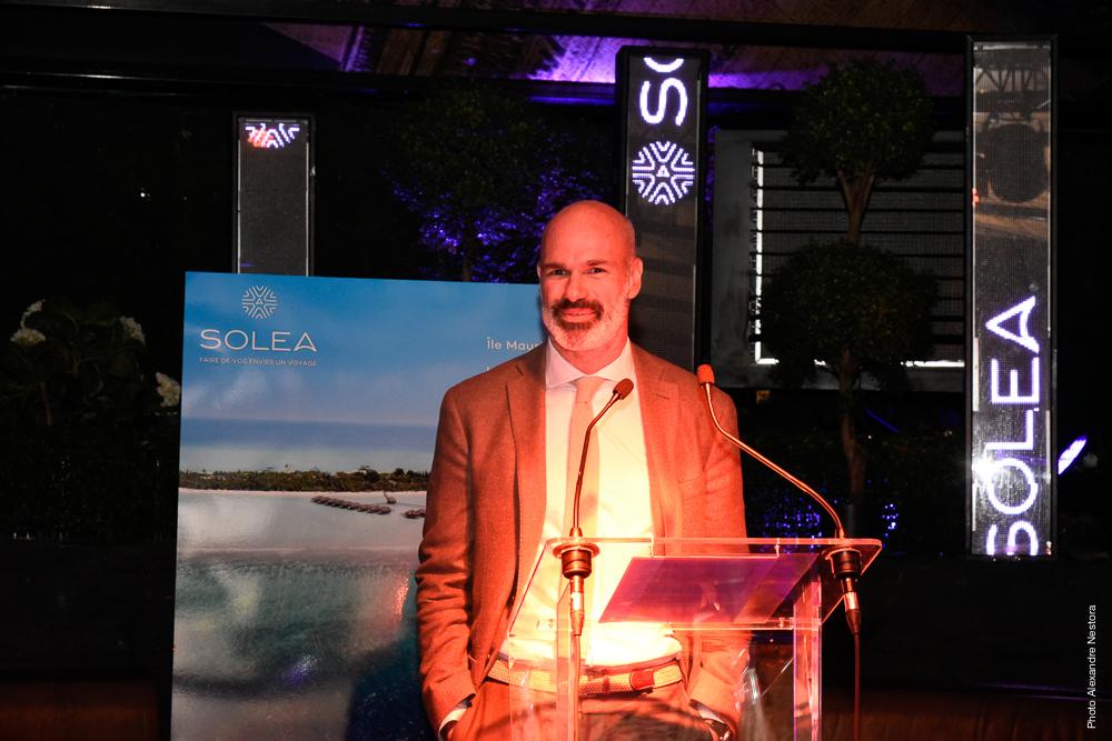 Alexandre Espitalier Noel, directeur général de Solea, à l'occasion de la fête anniversaire du TO, mardi 10 avril 2018 - DR : Solea
